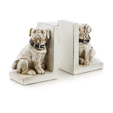 2 Piece Dog Polyresin Bookend Set