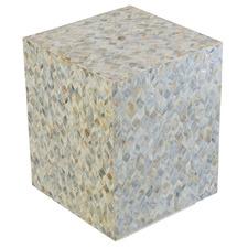 Lucio Square Capiz Shell Side Table