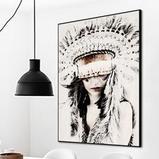 Boho Babe Framed Printed Wall Art