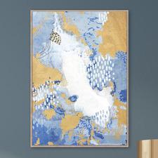Abstract Ocean Framed Printed Wall Art