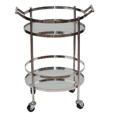 Conor Stainless Steel Bar Cart