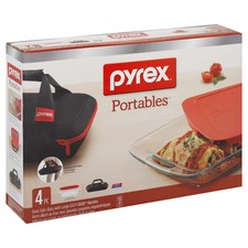 4 Piece Portables Pyrex Dish Set
