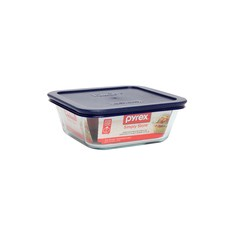 Simply Store 4 Cup-950ml Square Storage Dish with Blue Lid (Set of 4)