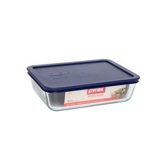 Simply Store 6 Cup-1.5L Rectangular Storage Dish with Blue Lid (Set of 4)