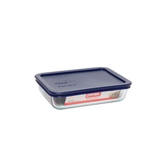 Simply Store 3 Cup-750ml Rectangular Storage Dish with Blue Lid (Set of 6)