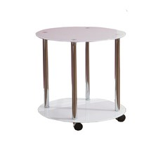 White Millennium Circular Side Table