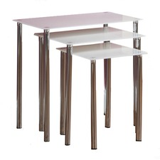 White Millennium Nesting Tables (Set of 3)