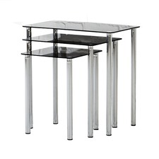 Black Millennium Nesting Tables (Set of 3)