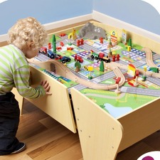 Children's Toy Train Table