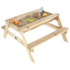 Wooden Sand & Picnic Table