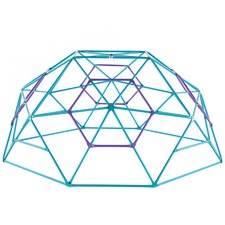 Teal & Purple Phobos Metal Climbing Dome