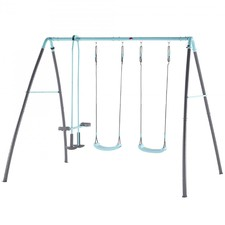 Metal Double Swing & Glider with Mist Spray
