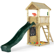 Kids' Natural Plum Wooden Lookout Tower