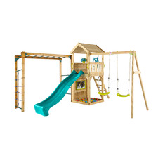 Plum Wooden Lookout Tower with Swings & Monkey Bars
