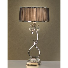 Luxuria 1 Light Table Lamp - Aubergine