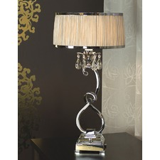 Luxuria 1 Light Table Lamp - Shimmer Grey
