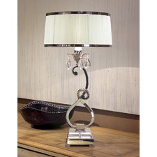 Luxuria 1 Light Table Lamp - White