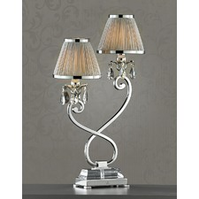 Luxuria 2 Light Table Lamp - Shimmer Grey