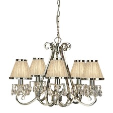 Luxuria 5 Light Chandelier - Shimmer Grey