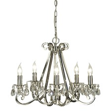 Luxuria 5 light chandelier -no shades