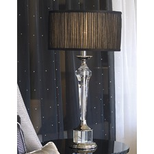 Dresden Table Lamp - Black Sheer