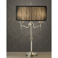 Stanford 2 Light Nickel Table Lamp - Black