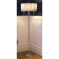 Shimmer Grey Stanford Steel Floor Lamp