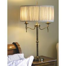 Stanford 2 Light Brass Table Lamp - Shimmer Grey