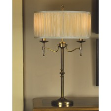 Stanford 2 Light Brass Table Lamp - Sand