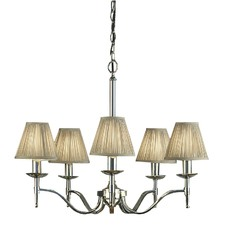 Stanford 5 Light Nickel Chandelier - Shimmer Grey