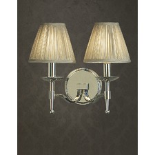 Stanford 2 Light Nickel Wall Lamp - Shimmer Grey