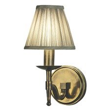 Stanford 1 Light Brass Wall Lamp - Shimmer Grey
