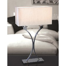 Zimmer 2 Light Nickel Table Lamp - Shimmer Grey