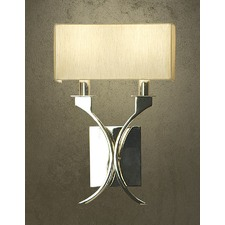 Zimmer 2 Light Nickel Wall Lamp - Shimmer Grey