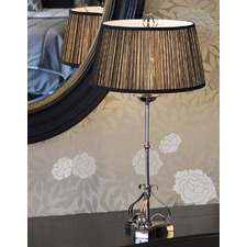 Zoya Nickel Table Lamp - Black