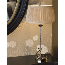 Zoya Nickel Table Lamp - Shimmer Grey