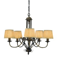 Zoya 5 Light Brass Chandelier - Sand