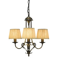 Zoya 3 Light Brass Chandelier - Sand