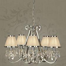 Luxuria 5 Light Chandelier - Shimmer Grey