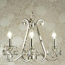 Luxuria 3 light chandelier -no shades