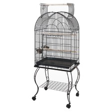 61cm Dome Open Top Parrot Cage with Stand