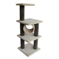 Cat Perch and Nest VI in Khaki/Grey