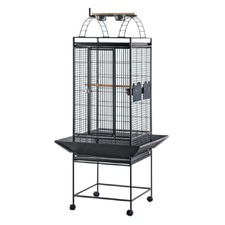 Playpen Parrot Cage in Black Vein