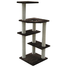 Black 4 Level Cat Scratching Tree