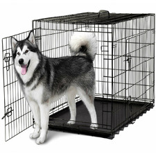 Dog Collapsible Crate ABS Tray in Black Vein