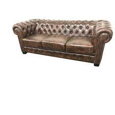3 seater Max Chesterfield Leather Sofa