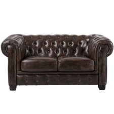2 seater Max Chesterfield Leather Sofa