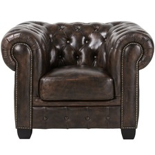 Single seater Max Chesterfield Leather Armchair