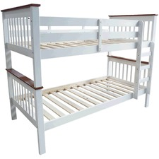 Two Tone Monza Timber Trundle Bunk Bed