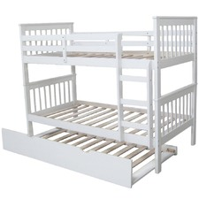 White Donatello Timber Bunk Bed
